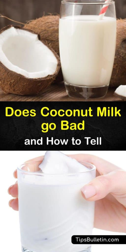 Discover how to store cans of coconut milk so coconut milk lasts longer. Like cow's milk, frozen coconut milk stored in an airtight container or ice cube trays stays fresh for months. Opened cartons of dairy milk and coconut milk go bad when stored at room temperature. #go #bad #coconut #milk