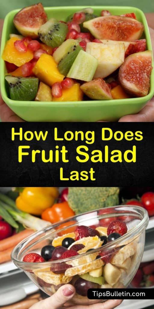 Make your favorite fruit salad recipe with watermelon, kiwi, and other carbohydrates without them turning mushy. Use this article to learn how to make this side dish last longer with orange juice and lime juice, while storing it in an airtight container for ultimate freshness. #fruit #salad #last
