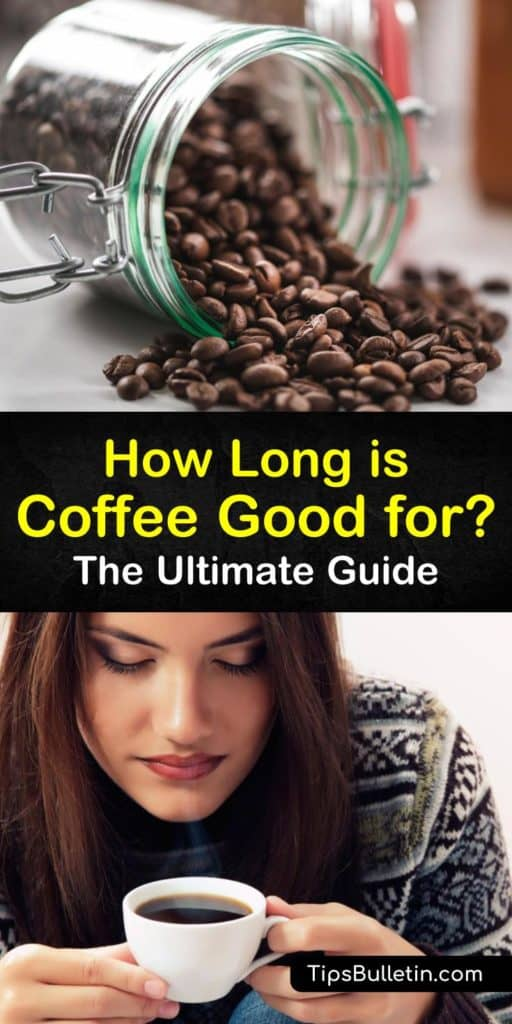Discover how long coffee is good for, whether it's whole beans, ground, or a cup of coffee or espresso sitting at room temperature. Learn how to store coffee in an airtight container to extend its shelf life. Stop drinking rancid, old coffee with these tips. #coffee #howlong #fresh