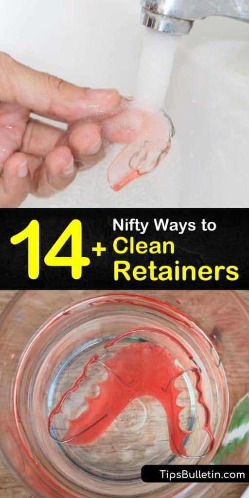Scroll through this list of ways to clean retainers and be amazed at the number of homemade retainer cleaner recipes that break down tartar. Baking soda, denture tablets, and toothpaste are the keys to keeping aligners clean and making your orthodontist happy. #howto #clean #retainers
