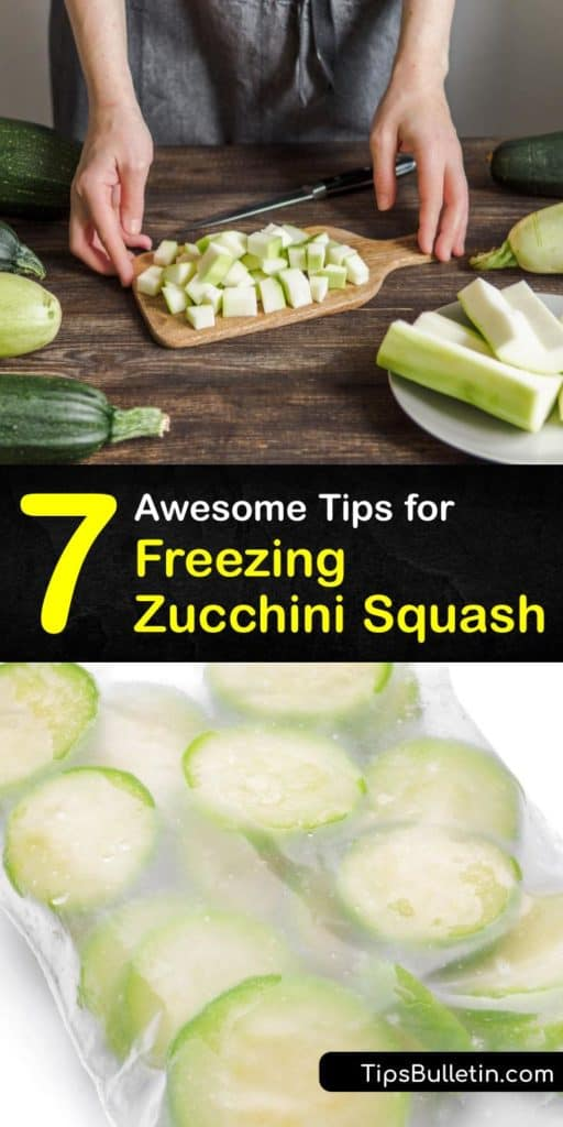 Learn how to freeze zucchini and summer squash without having it turn into a soggy mess. Use frozen zucchini year-round for all of your favorite recipes like zucchini bread, lasagna, soup, and more. #howto #freeze #zucchini #squash