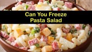 Can You Freeze Pasta Salad titleimg1