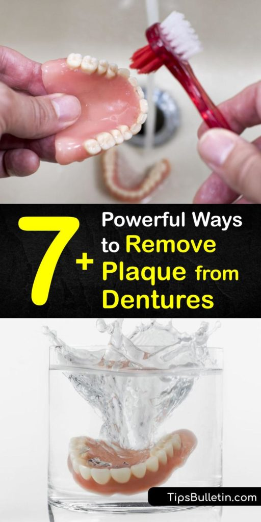 Become a master at denture cleaning when you use a homemade denture cleanser and cleaning solution with only hot water, a denture brush, and toothpaste. Denture wearers will know what true denture care is after figuring out which denture cleaner works best for them. #remove #plaque #dentures
