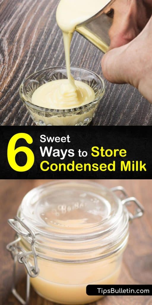Grab an unopened can of Borden or Eagle brand condensed milk and discover the shelf life of canned food when it is both opened and unopened. Learn how to refrigerate leftover condensed milk and turn it into butterscotch to drizzle on ice cream, cheesecake, and fudge. #store #condensed #milk