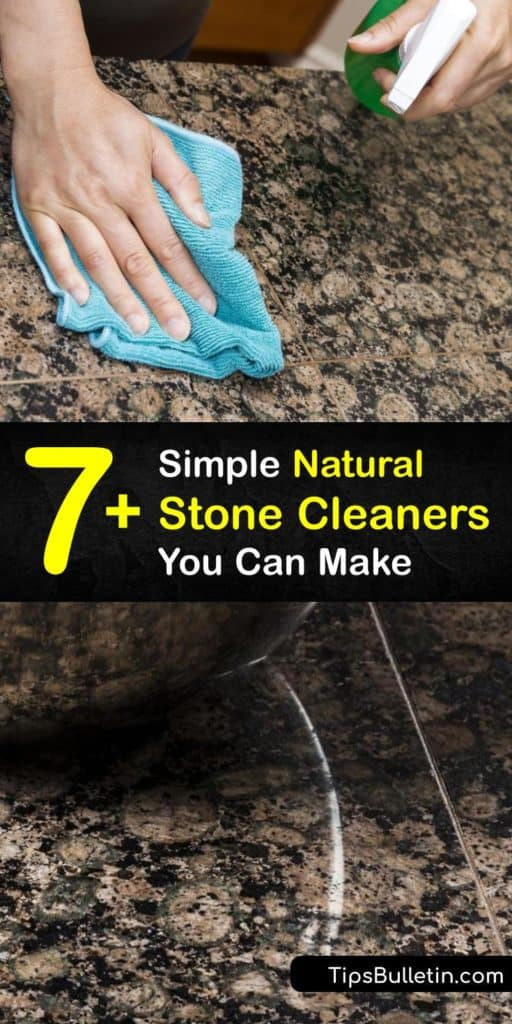 Discover a cleaning solution for all of your natural stone surfaces like stone floors and countertops. Use a stone cleaner that protects the sealant on the stone surfaces while also eliminating grout stains. Products like bleach get rid of dirt without damaging the sealer. #cleaning #natural #stone