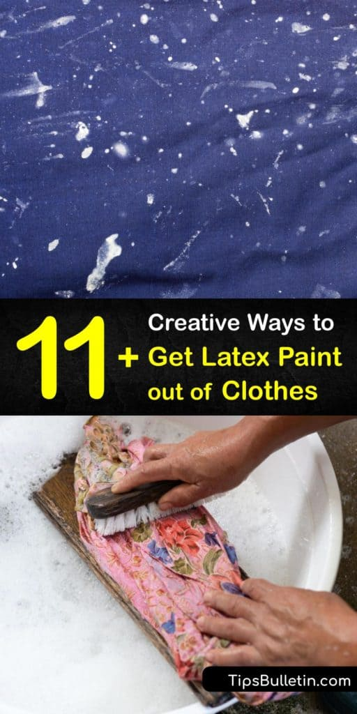 Learn what products act as a paint thinner and paint stain remover. Blotting a paint stain with hairspray, nail polish remover, rubbing alcohol, or turpentine effectively eliminates stains. #howto #remove #latex #paint #clothes