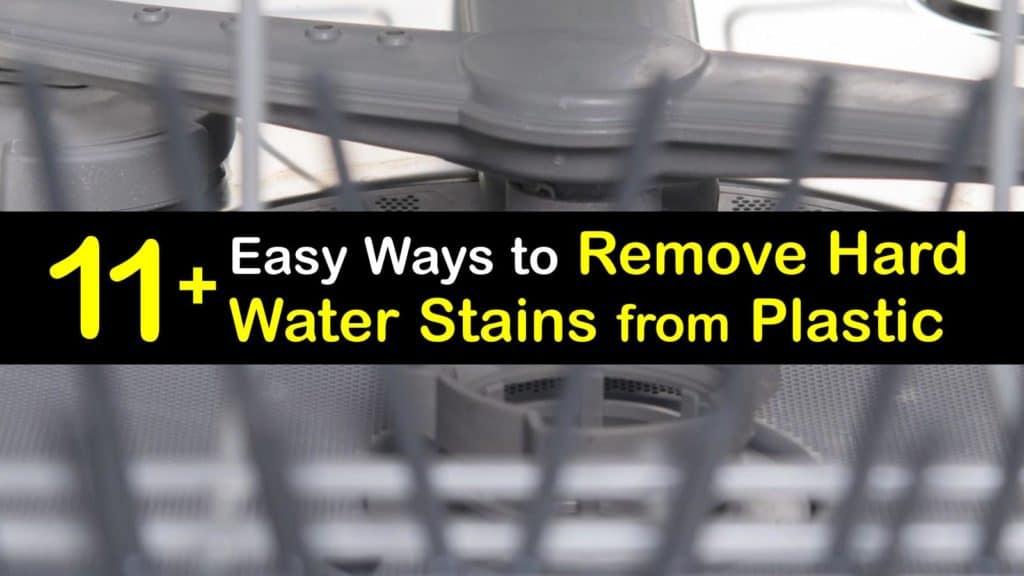 Como remover manchas de água dura de plástico titleimg1