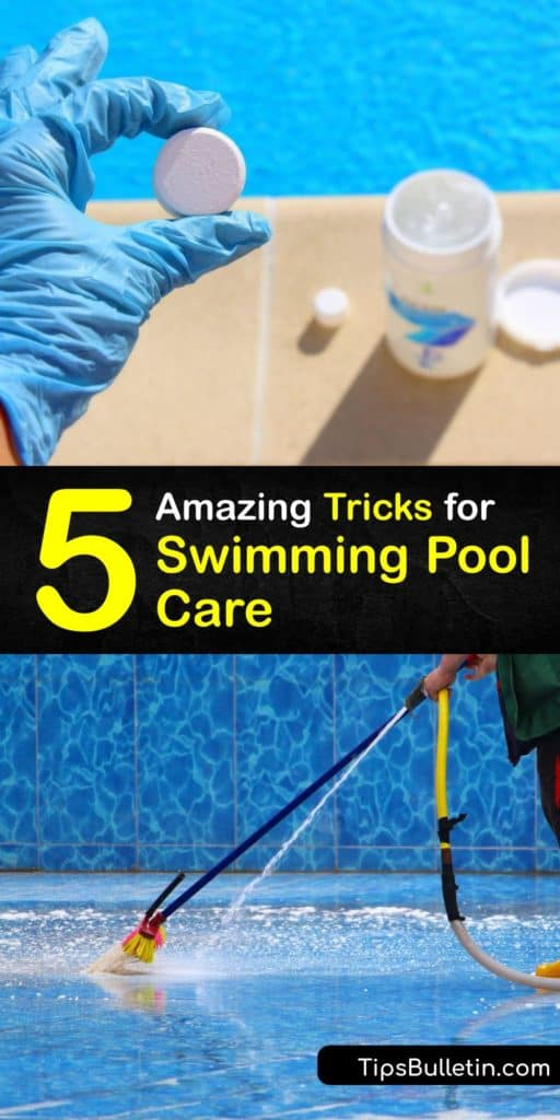 Learn the essentials of pool maintenance. For a pool to be free of contaminants, use a test kit to check alkalinity ppm and the chlorine level. Every week, backwash your pool, use a sanitizer, and clean the skimmer baskets. #howto #clean #swimming #pool #care