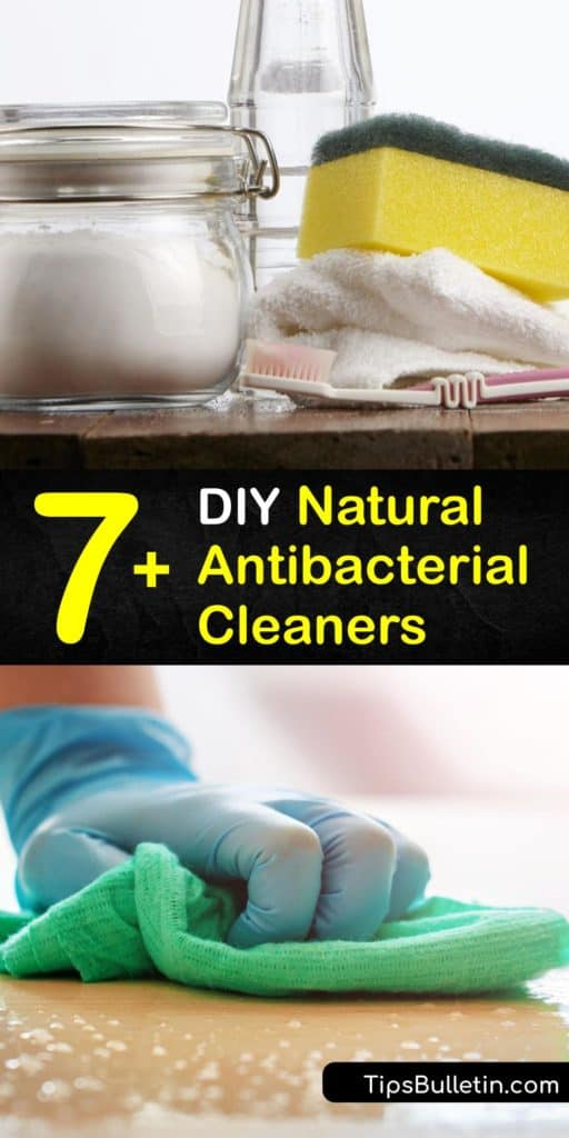 Learn how to make homemade cleaners with tea tree oil or hydrogen peroxide for disinfecting countertops. Many cleaning products contain harsh chemicals such as bleach, and making your own disinfectant is a safe and natural way to remove germs and bacteria. #diy #natural #antibacterial #cleaner