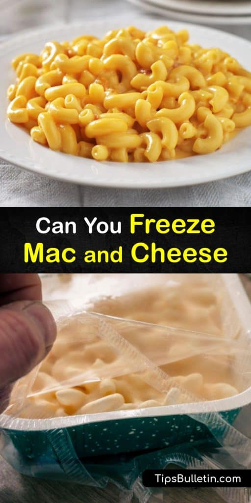 Discover how to freeze your favorite al dente mac and cheese recipe in a few simple steps. This cheesy side dish comfort food is perfect to make ahead and freeze as an entire casserole or individual servings by wrapping it in plastic wrap and aluminum foil. #freeze #macaroni #cheese