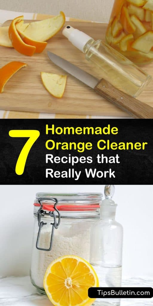 Discover the best natural cleaning solutions using citrus essential oils. Make all-purpose cleaner with orange peel infused white vinegar in a Mason jar to use on your countertops, mirrors, and other surfaces for serious cleaning power. #homemade #orange #cleaner