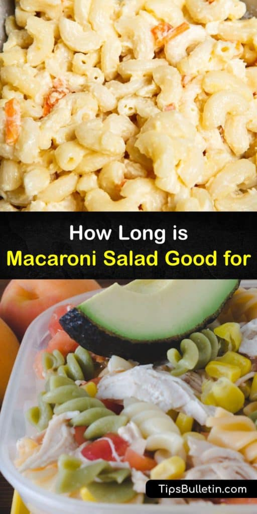 Learn how long your macaroni salad recipe lasts at room temperature or in the fridge and how to freeze it for a long shelf life. Classic macaroni salad with hard boiled eggs is a popular choice at a BBQ cookout, but it only lasts about two hours unrefrigerated. #macaroni #salad #last