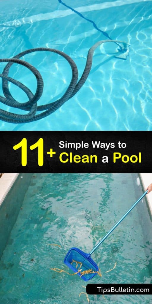 Learn how to perform pool cleaning to keep the water free of algae build-up and debris. Use a test kit to check the pH level, add pool chemicals to keep the water balanced, use a pool cleaner, and clean the pool filter to keep the filtration system functional. #howto #clean #pool