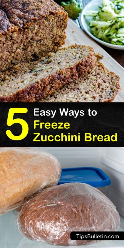 Learn how to freeze zucchini bread quickly. Freezing zucchini bread is simple when you wrap the loaf in aluminum foil or plastic wrap to preserve the frozen zucchini. A delicious zucchini bread recipe includes baking powder and grated zucchini. #howto #freeze #zucchini #bread