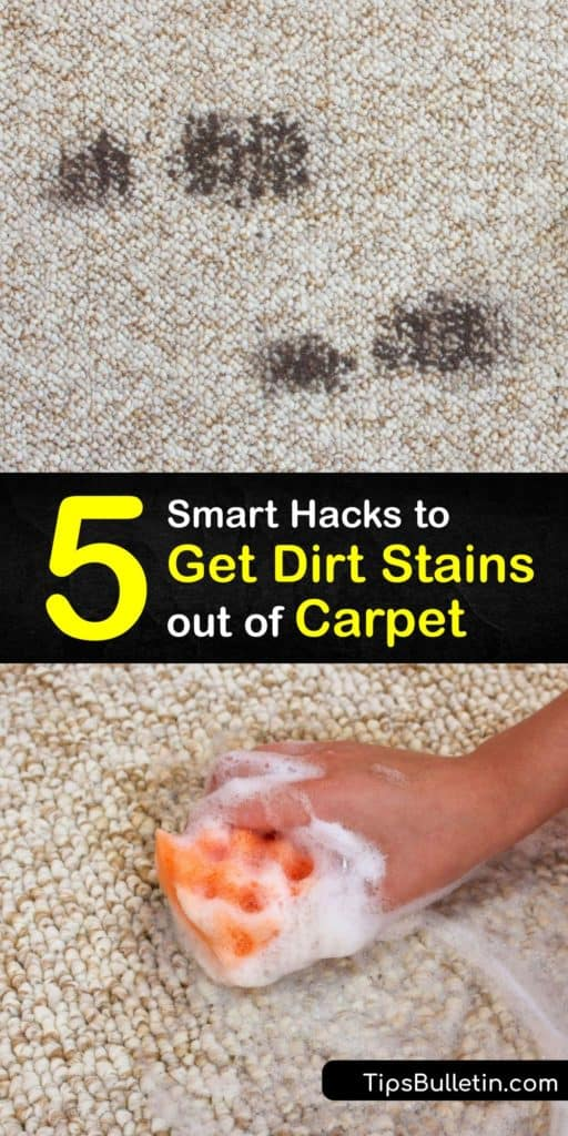 Gather your white vinegar, bleach, and warm water to create homemade carpet cleaner and stain remover that lifts dirt from carpet fibers. Use these methods to start blotting at your stained carpeting while using a powerful, chemical-free cleaning solution. #dirt #stains #carpet #remove