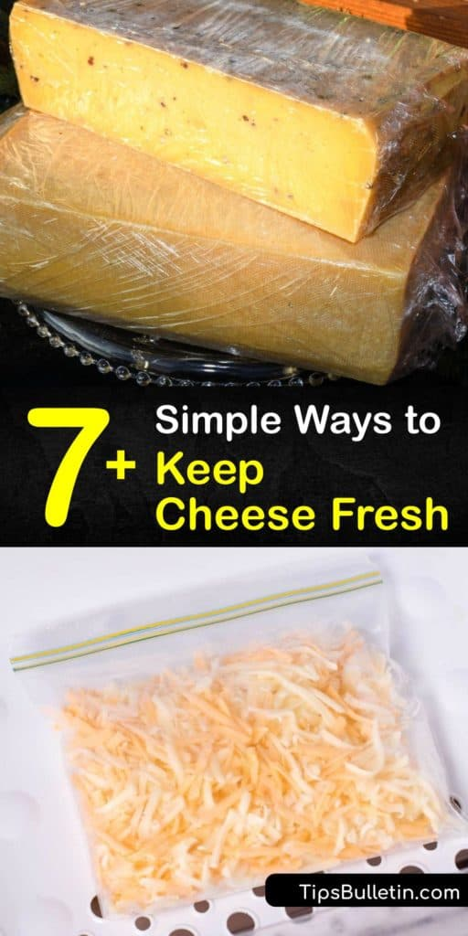 Learn how to store-cheese at room temperature or in the fridge, and ways to freeze it long term. To refrigerate cheese, wrap hard cheeses in wax paper and keep them in an opened plastic bag, and keep soft cheeses without a rind in an airtight container. #howto #store #cheese