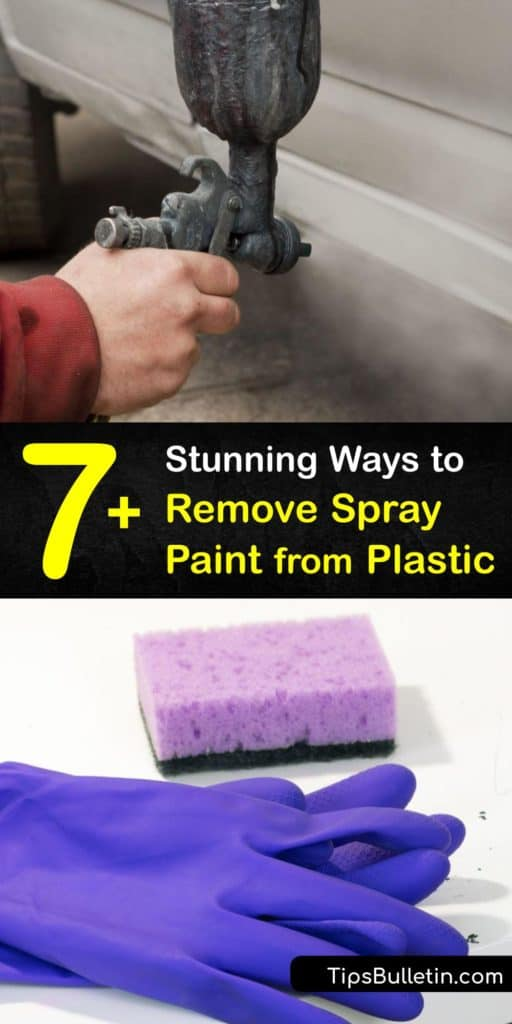 Find products that serve as spray paint thinner on a plastic surface. Soak a paper towel in vegetable oil, denatured alcohol, or acetone to loosen paint. After the paint breaks down, use a razor blade to remove spray paint. Clean the area with warm water to finish. #remove #spray #paint #plastic
