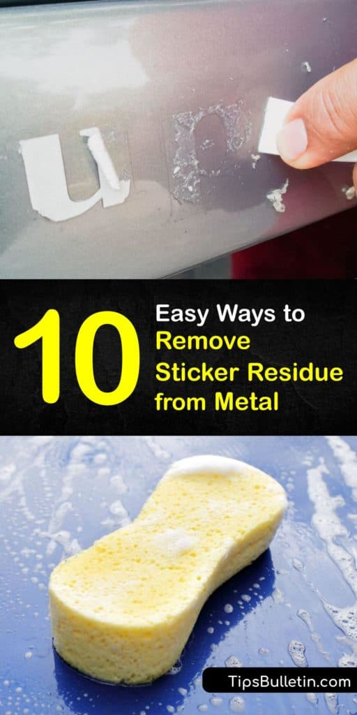 Learn how to eliminate sticky residue from a metal surface. Loosen the sticker initially with a hair dryer. Use products like peanut butter, soapy water, or a paper towel soaked in baby oil to break adhesive. With a scraper like a razor blade, remove adhesive stains. #remove #stickers #metal