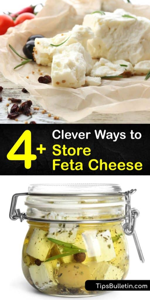Savor the taste of Bulgarian and Greek feta for weeks when you learn how to create your own brine to extend the shelf life of goat's milk and cow's milk products. These preservation tactics work for block and crumbled feta, so long as you have an airtight container and fridge. #store #feta #cheese