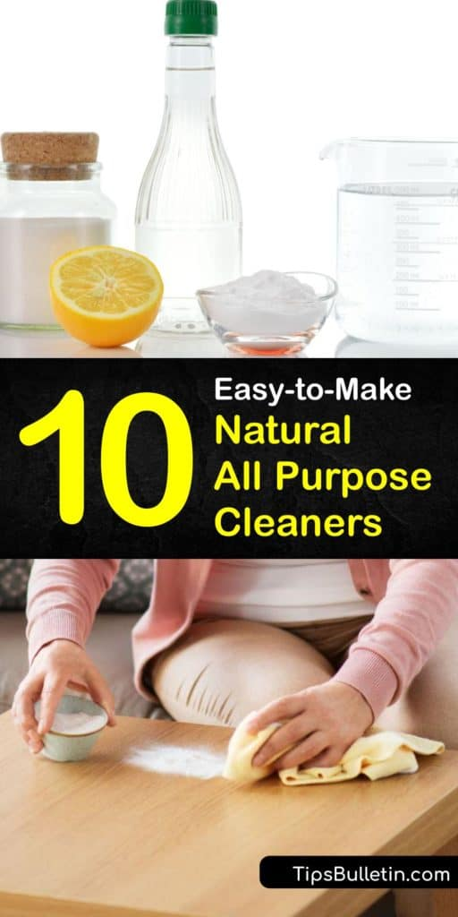 Master the art of natural cleaning with these DIY recipes to make a natural cleaner using gentle ingredients like baking soda, tea tree oil, bleach, and a spray bottle that cut through grime in every room of your home. #natural #allpurpose #cleaner