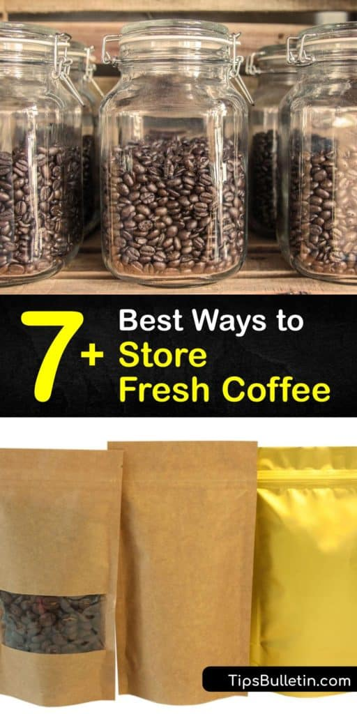 Purchase whole beans or ground coffee and learn how to properly put them in the roaster to release carbon dioxide, use a coffee grinder, and store them in a coffee canister to keep coffee fresh for weeks. You'll soon be sipping espresso with a smile from the rich flavors. #where #store #coffee