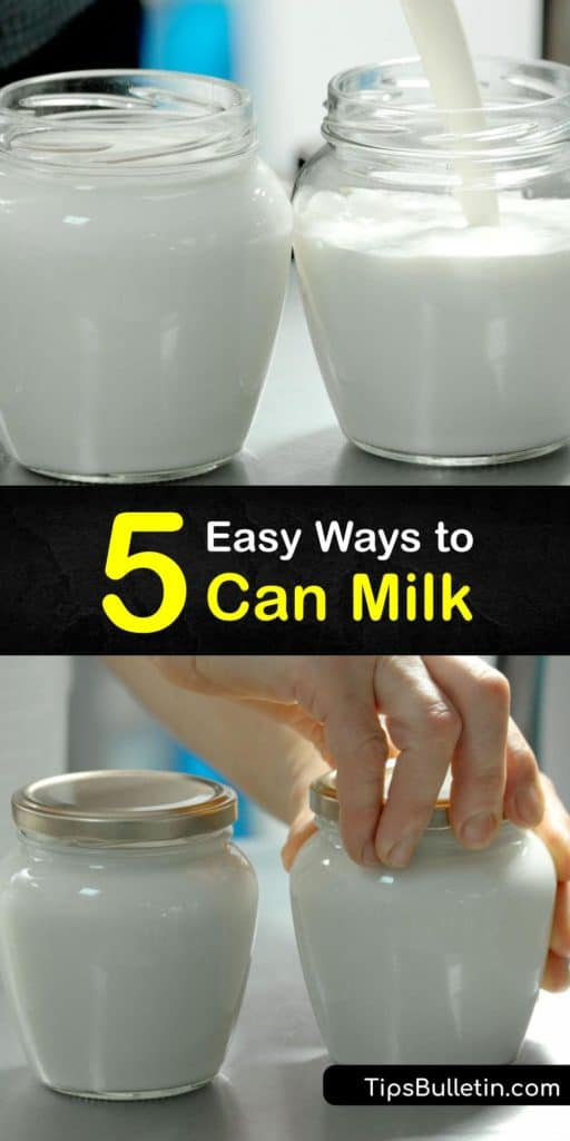 Home canning is a great way to preserve many food types, whether you use a water bath or pressure canning process. However, low acid foods, such as fresh milk, require a pressure cooker and sterile canning jars to prevent botulism. #howto #canning #milk