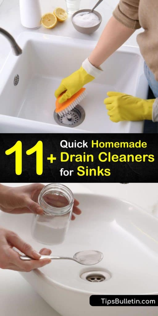 Discover how to treat clogs in your kitchen sink or garbage disposal with easy DIY methods. Instead of hiring a plumber, treat a clogged drain with a cup of vinegar, baking soda, and a plunger to remove buildup. #homemade #sink #drain #cleaner