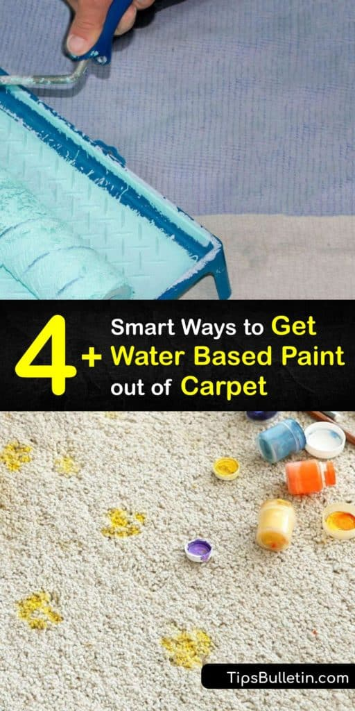 Save your carpet fibers from further damage when you use these ways to lift dried paint like latex paint, acrylic paint, and oil paint from carpet. These DIY carpet cleaner and paint remover sprays use acetone to salvage your carpet from stains. #water #paint #carpet #remove #howto