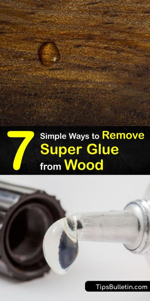 Removing super glue for wood surfaces and countertops is easy with the proper tools. Initially, treat the affected area by sanding the glue stains. Then, use acetone and soak a cotton swab or cotton ball to act as a glue remover. #howto #remove #superglue #wood