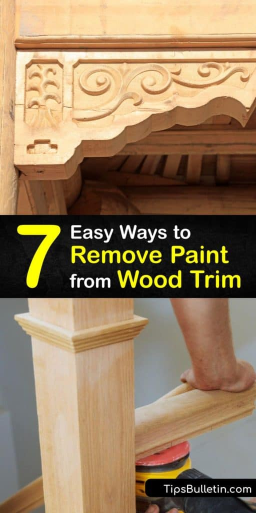 Removing layers of paint on wood trim is simple with DIY tools like a heat gun and a paint stripper like denatured alcohol. To ensure there is no damage to the varnish, start using fine grit sandpaper to break through old paint. #remove #paint #wood #trim