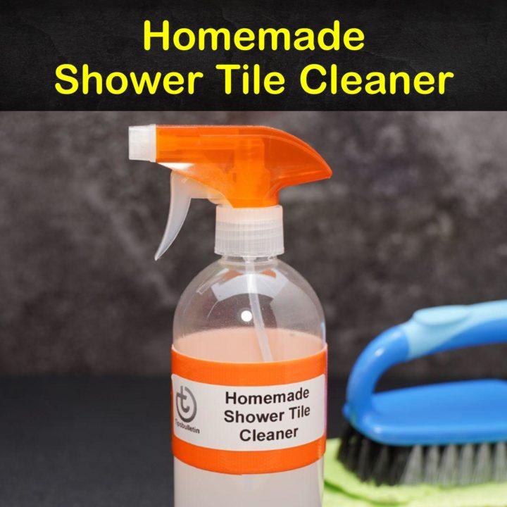 Homemade Shower Tile Cleaner