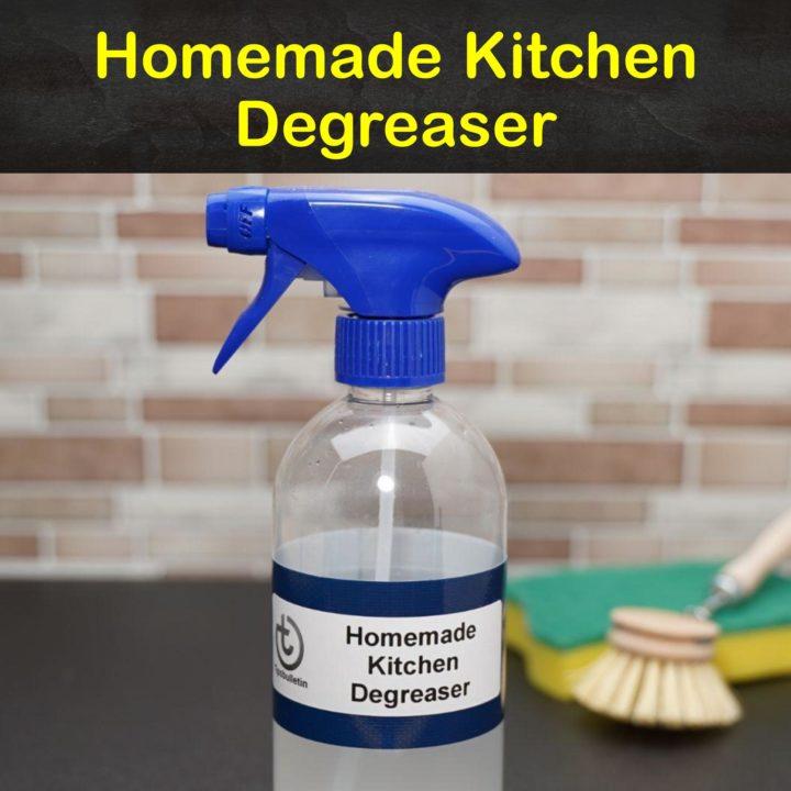 Homemade Kitchen Degreaser